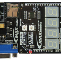 MAXimator FPGA Board with Expander – top view